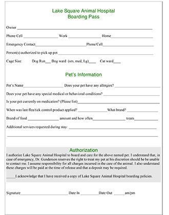 Boarding Pass Form